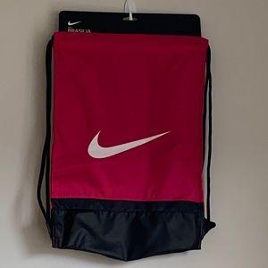 Nike Brasília Just do it pink drawstring backpack